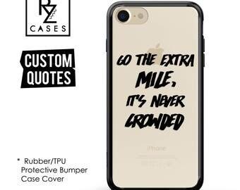 Custom Phone Case, Personalized Case, iPhone 7 Case, iphone 6, Personalized Gift, Quote Phone Case, iPhone 6s, Rubber, Bumper Case