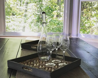 Wine Cork Decorative Trays