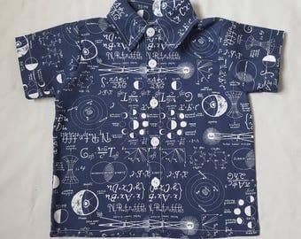 Infant boy's button down collared dress shirt