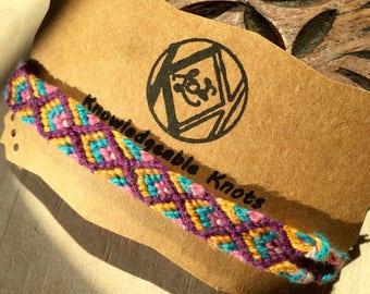 Woven/Knotted Diamond Pattern Friendship Bracelet