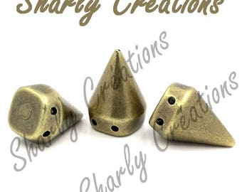 10 pearls rock spikes acrylic Bronze 18 x 12 cones
