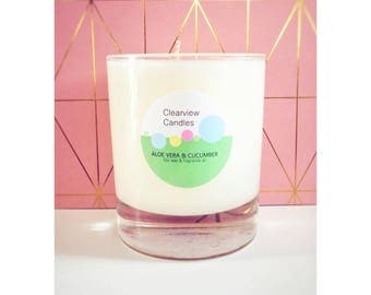Aloe Vera & Cucumber Soy Wax Natural Candle