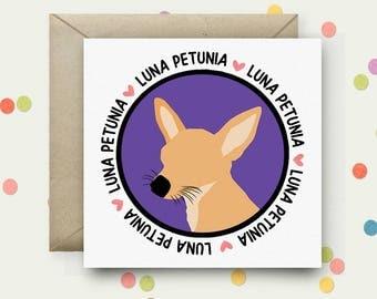 Personalised Pet Portrait Square Pop Art Card & Envelope