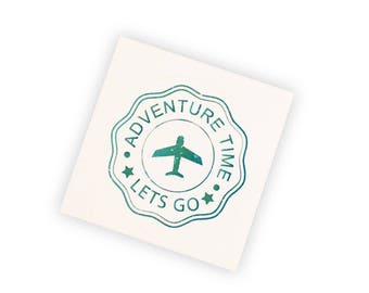 Adventure Time Travel Round Sticker