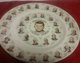 JFK Presidents collector Plate
