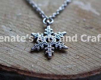 Rugged Snowflake Necklace