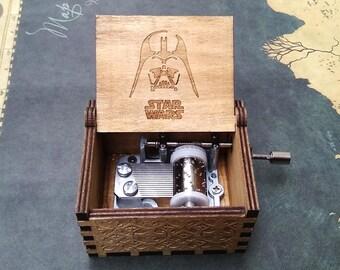 Engraved Handmade Star Wars Wooden Music Box Customized Music Box