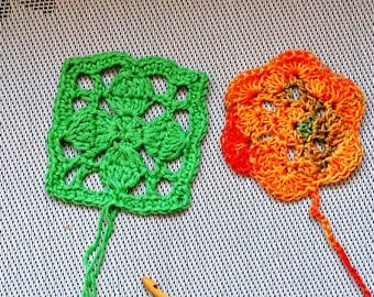 Sharp square & double duvet cover hexagon honeycomb PATTERN crochet Schemes  description pdf