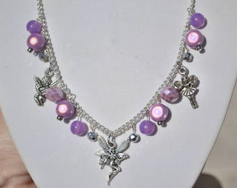 Necklace fairy / Angel and violet