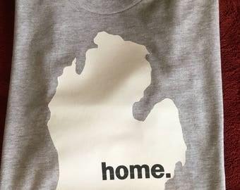 Michigan- shirt-home shirt- Michigan is Home- Michigan T-shirt