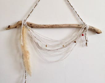 "Unique Handmade Wall Hanging ""Sahk–Hwann"" Organic Sustainable Bohemian Wall Art"