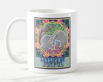 JOYFUL - Big Coffee Mug Unique Coffee Mug Coffee Lover Gift Gift for Teacher Wedding Gift Cheap Christmas Gift Custom Mugs Gift Idea