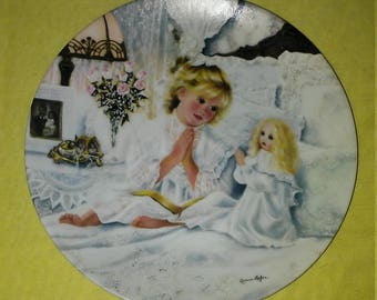 """Limited Edition Collector Plate, """"Now I Lay Me Down To Sleep"""""""