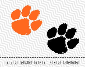 SVG Clemson Tigers Logo Vector Layered Cut File Silhouette Cameo Cricut Design Template Stencil Vinyl Decal Tshirt Heat Transfer Iron