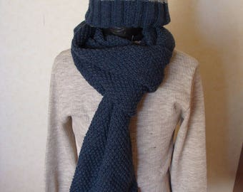 Blue jean and hat scarf