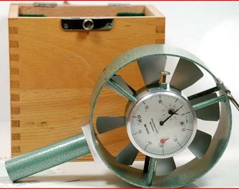 Anemometer Rosenmuller mechanical made in West Germany 1984