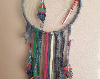DreamCatcher boho with scraps of cowboy style