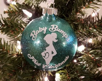 Baby Bump's First Christmas Ornament