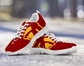USC Trojans Football Fan Custom Running Shoes/Sneakers/Trainers - Ladies + Mens Sizes