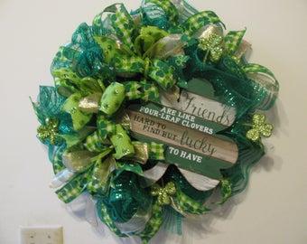 "St. Patrick Day ""Friends"" wreath"