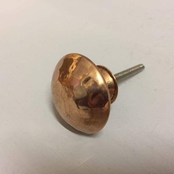 Set 8 X Hammered Copper Knobs Knob Home Decor Drawer