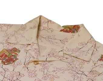 "Japanese ""KIMONO"" Aloha Shirt/jpam382"