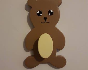 Teddy bear coat hook