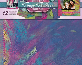Fancy Feathers Double Sided 12x12 Paper Pack