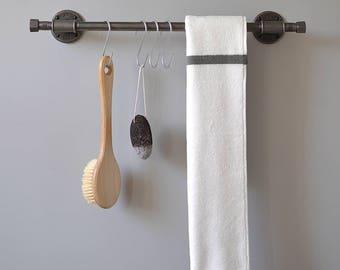 Hand/Bath Towel Rail For Bathroom - Industrial/Vintage/Steampunk Pipe Fittings High Quality