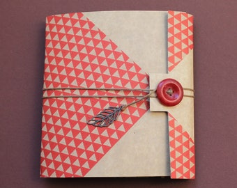 Red flap and kraft notebook