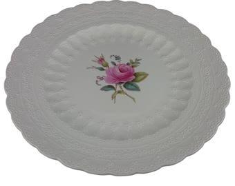 "A ""Billingsley Rose"" Spode Plate"