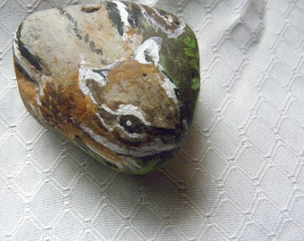 Chipmunk Rock  Hand painted