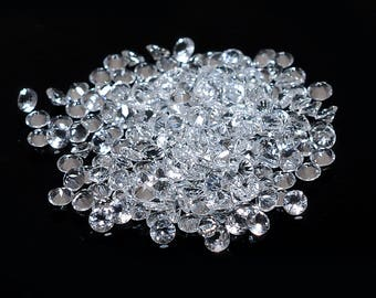 Natural White Topaz Round Cut Gemstone Calibrated Size Available 0.9mm To 8mm Stone Supplier