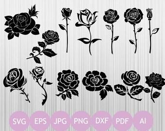 13 Roses Svg | Rose Svg | Flowers Svg | Printable Roses | Cricut Design | Instant Download