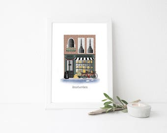 Amsterdam Travel Art Print - Cheese Shop