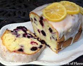 Valentine gifts/Homemade Blueberry Lemon Pound Cake/Gluten Free Cake/Sugar Free Cake/Vegan