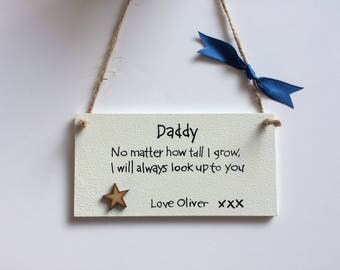Personalised plaque . Daddy . Wooden plaque . Best dad . Fathers day . Dad