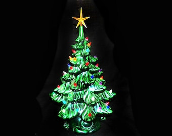 19 vintage ceramic christmas tree lighted ceramic christmas tree pre owned read condition report - Ceramic Christmas Lights