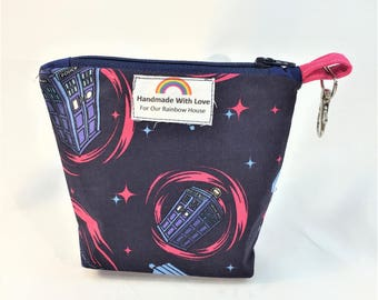 Small Zipper Pouch Doctor Who Tardis