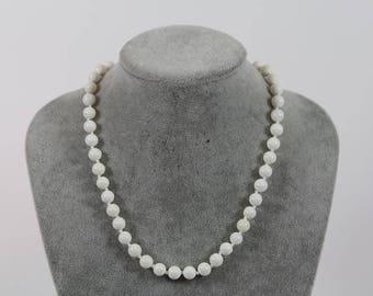 Fine necklace white coral necklace