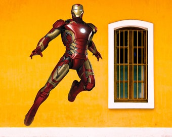 iron man full color decal ironman full color sticker ironman wall art 47