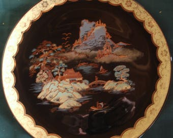 10.5 Vintage Japanese Damascene Collocters Plate