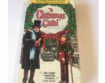 A Christmas Carol VHS Movie 1989 GOODTIMES Film Alastair Sim