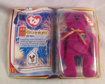 TY McDonald's Beanie Babies MILLENNIUM the Bear 1999 *New in Package*