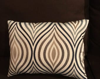 Brown ,cream and navy blue pillow
