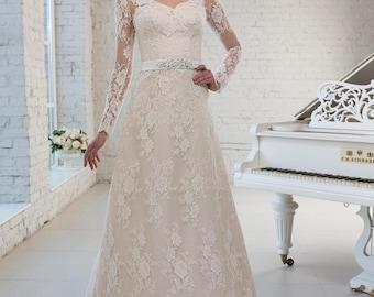 White European Wedding Dress