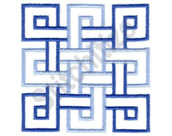 Celtic Knot Quilt Square - Machine Embroidery Design