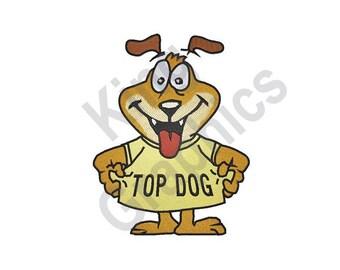 Dog - Machine Embroidery Design, Top Dog