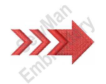 Arrow - Machine Embroidery Design, Sectioned Arrow