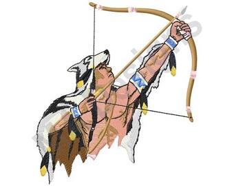 Indian Archer - Machine Embroidery Design, Native American